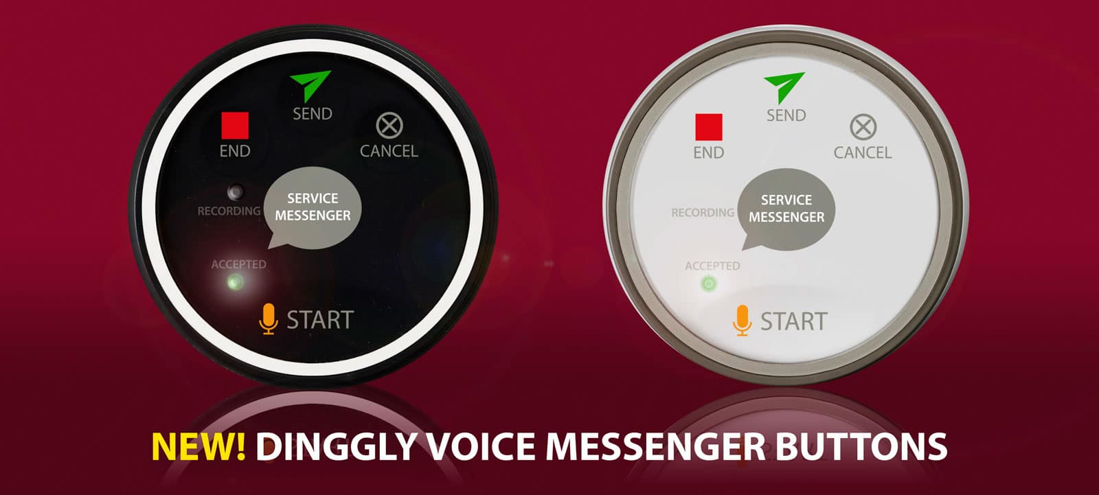 Dinggly Voice Messenger Buttons