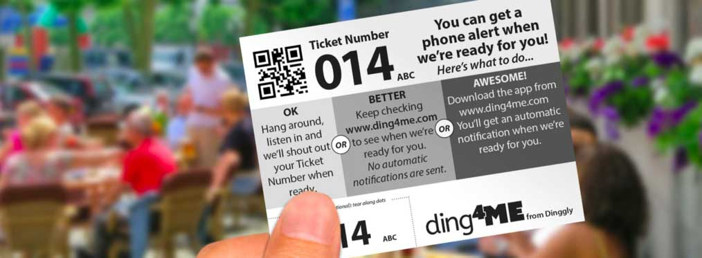 Dinggly queue ticketing system